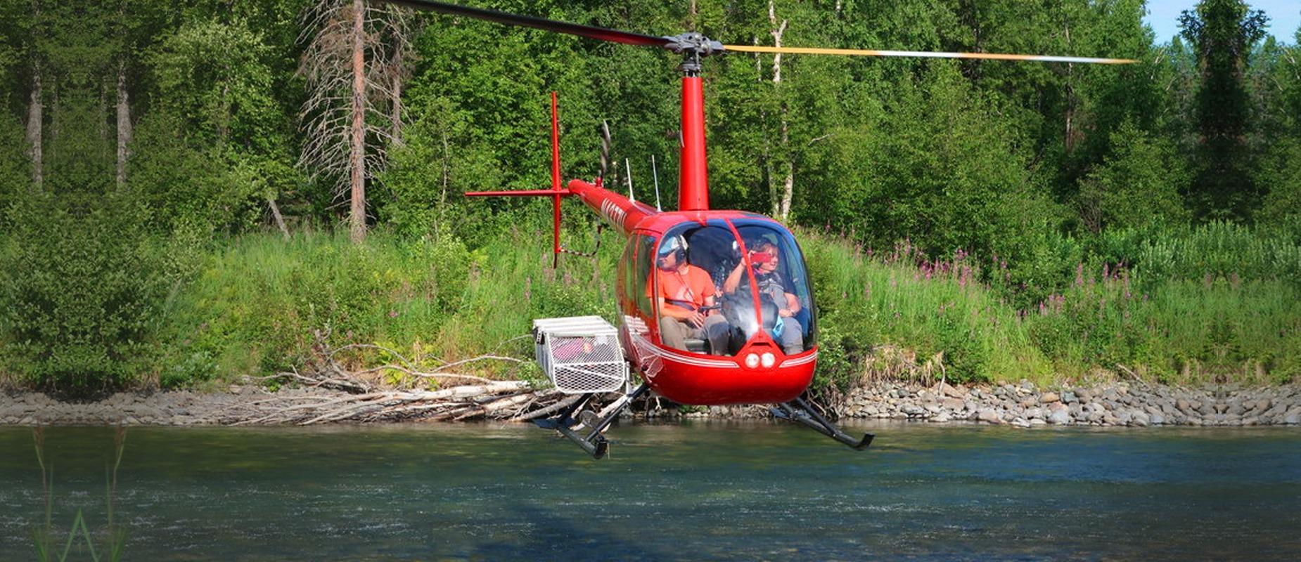 Helikopterturer til laksefiske